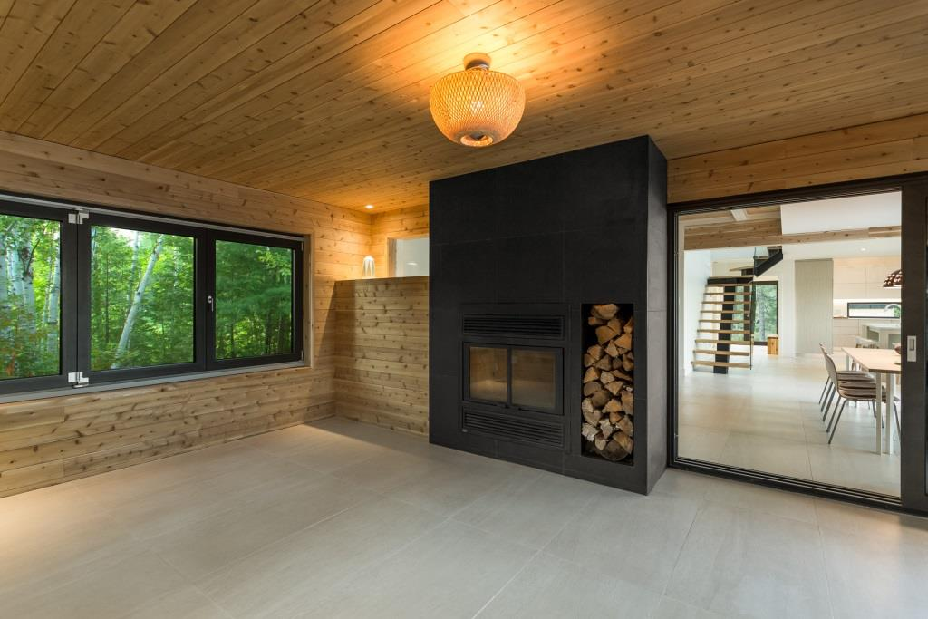 white cedar contemporary interior