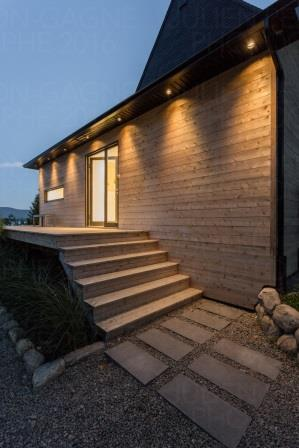 white cedar modern architecure and design
