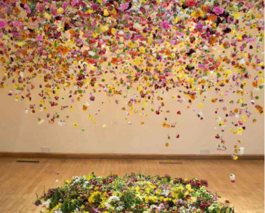 composition florale rebecca louise law artiste anglaise