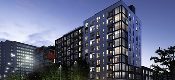 Samcon condo Montcalm design interieur FX studio Immobilier immeuble