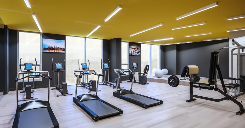 tour condo locatif Stanbrooke FX Studio design immobilier gym