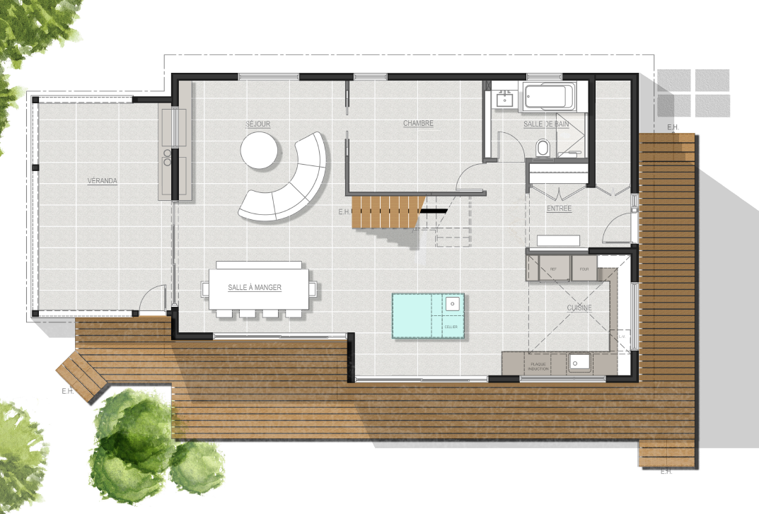 plan design interieur